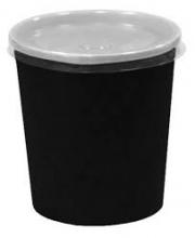 Супник 500 мл. черный с пластиковой крышкой