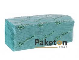 Полотенце бумажное Z-сложения, зеленое, Кохавинка